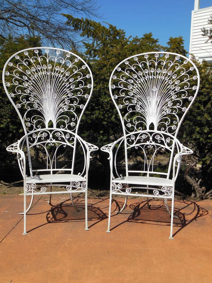 vintage salterini peacock chairs from a unique collection of antique and modern garden furniture at