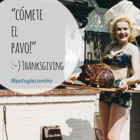 """#IDEAGENES 80 - """" CÓMETE EL PAVO! HAPPY THANKSGIVING """" #cita #quote #Concepto Imaginaxión #ComunicacionVisual ( IDEAS EN IMÁGENES ) BY @PATO GIACOMINO"""