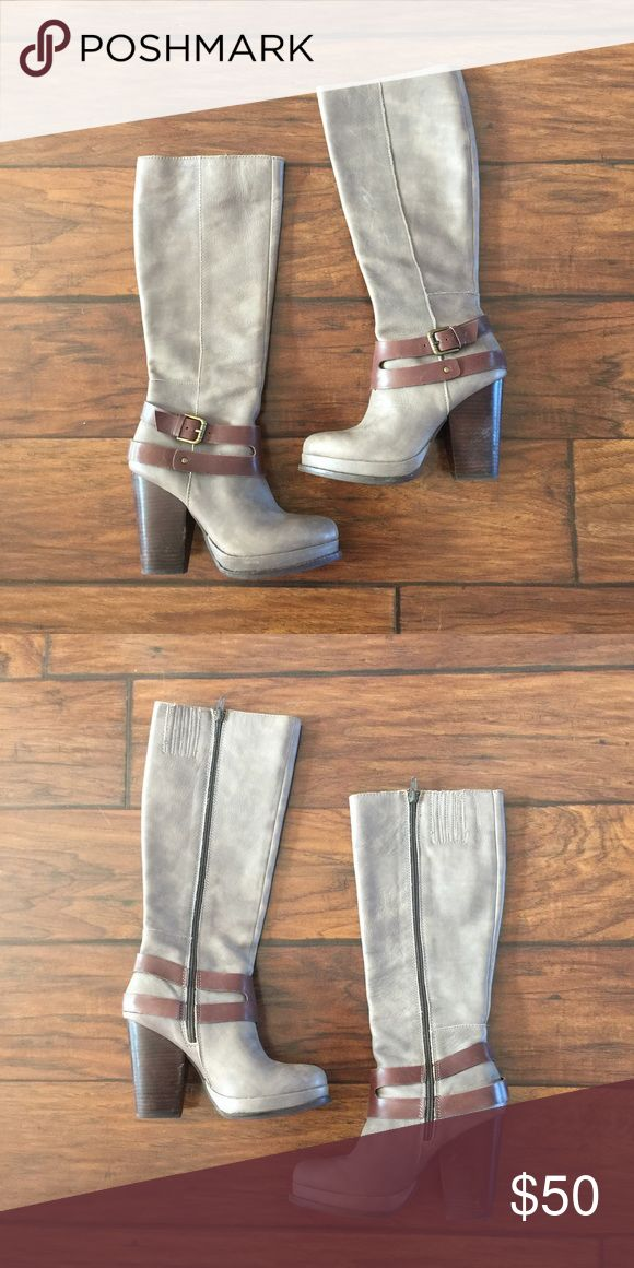 Seychelles Boots Awesome grey and brown boots! They have a distressed look to them and are in great used condition Seychelles Shoes Heeled Boots