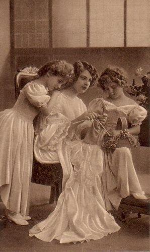 family knitting
