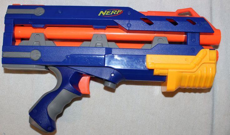Nerf Longshot CS 6 Blue N Strike Soft Dart Gun Front Barrel Extension #NERF #Longshot #CS #Blue #N #Strike #Soft #Dart #Gun #Front #Barrel #Extension