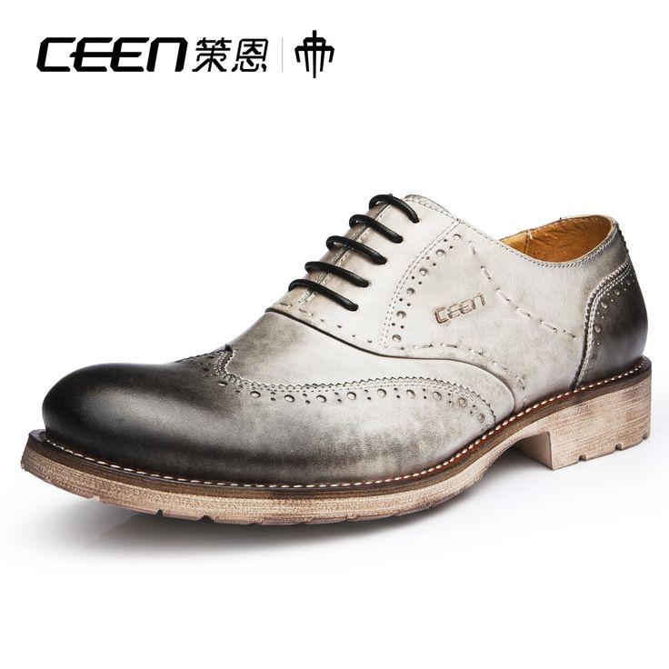 Ceen бизнес повседневные изделия из кожи из натуральной кожи свободного покроя туфли мужчин с низким уровнем верха обуви мужской x0265