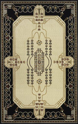 Momeni Nouveau Ivory Rug Elegant Designs Based On The Works Of William Morris And Arts Crafts Movement Features A Bold
