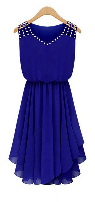 Sweet blue pleated dress - LOVE LOVE LOVE!!!!