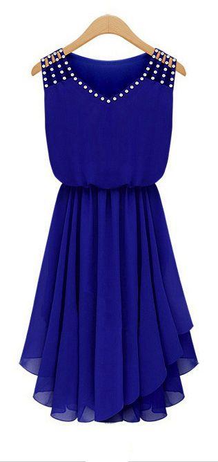 Sweet blue pleated dress - LOVE LOVE LOVE!!!!