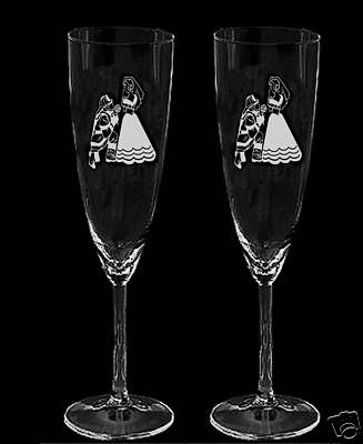 Firefighter Wedding Champagne glasses NEW!! on eBay!