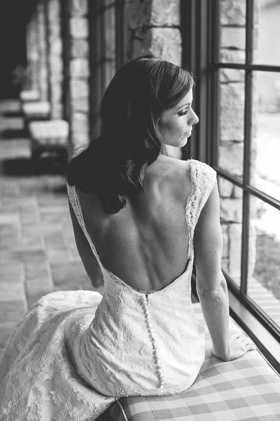 low back, lace wedding dress  © BY SHEA