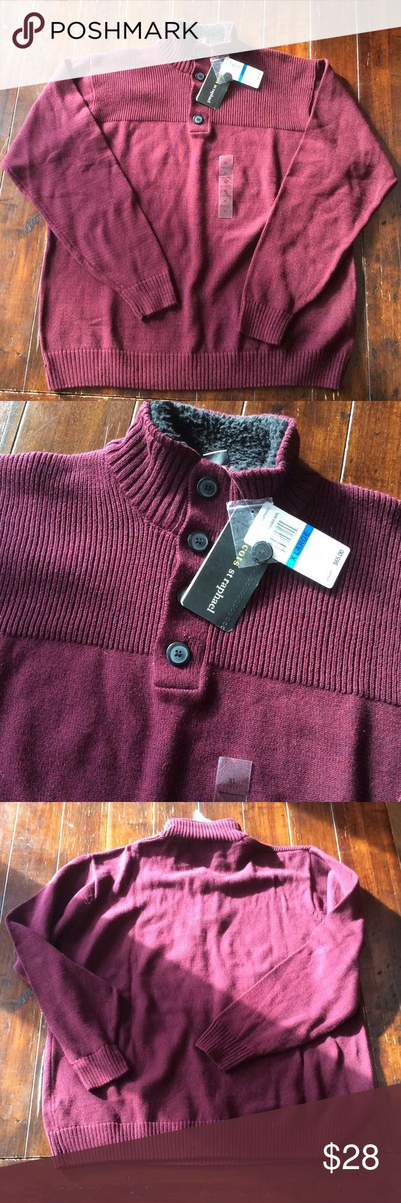 Clearance! Men's XL St Raphael Sweater NWT Burgundy sweater, brand new St Raphael Sweaters