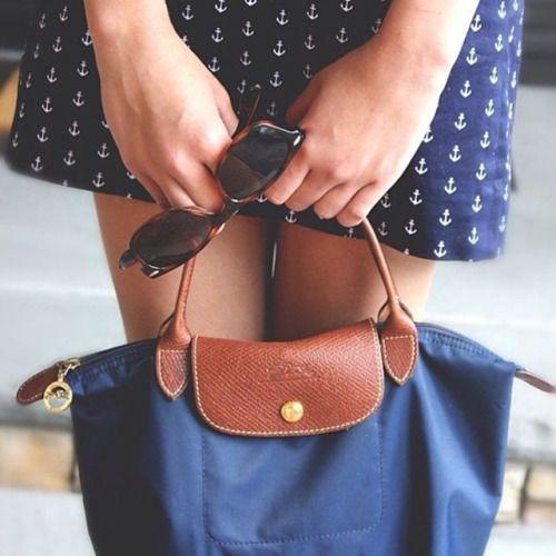 Longchamp le pliage bag navy-perfect travel bag!