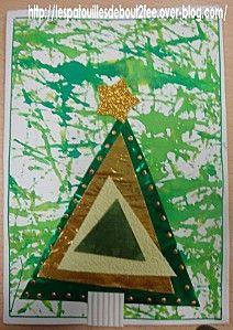 les triangles de Noël (sapin bricolage)