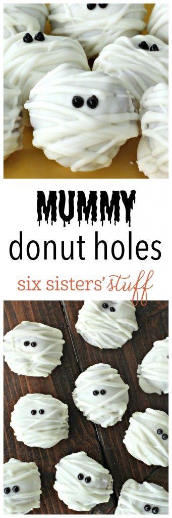 Mummy Donut Holes from SixSistersStuff.com