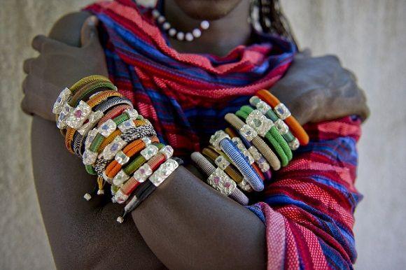 Amazing Uru African rough diamond bracelets made in a tribal fashion. love them!!