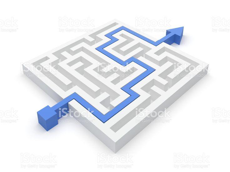 Risolto il labirinto puzzle Foto di Stock 13178019 - iStock