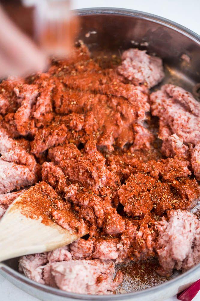 Chipotle Copycat Chorizo | paleo recipes | Whole30 recipes | homemade chorizo | perrysplate.com