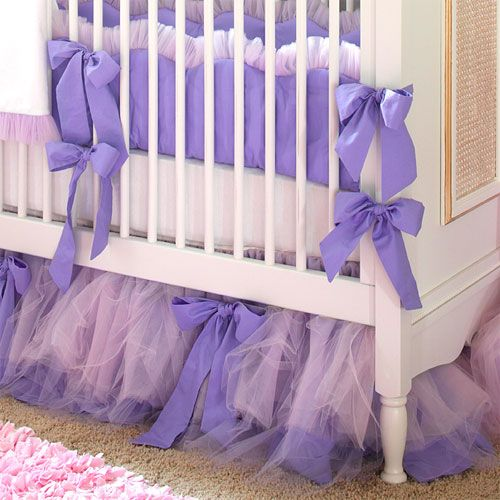 Tutu Tulle Crib skirt. I bet I could make this twin size :)