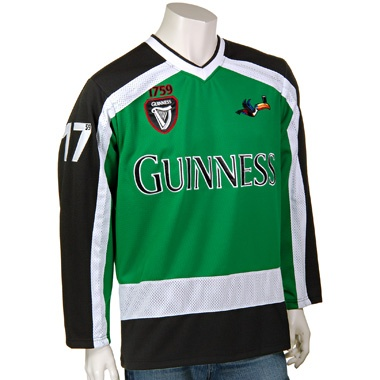 guinness hockey jersey: