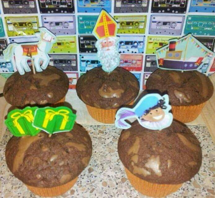 Sinterklaas nutella cupcakes