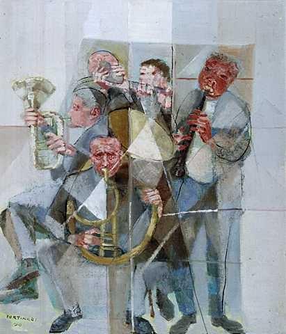 Band(1956) - Oil on Canvas - Candido Portinari.