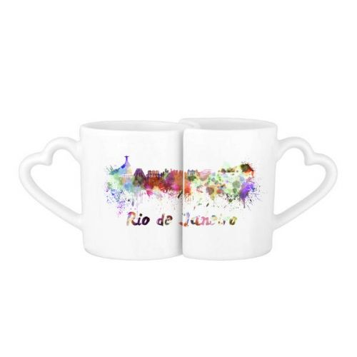 Rio De Janerio Brazil Country City Watercolor Illustration Lovers' Mug Lover Mugs Set White Pottery Ceramic Cup Gift Milk Coffee Cup with Handles #Mug #RioDeJanerio #Cup #Brazil #LoverMugs #Country #Lovers'Mug #City #CoffeeMug #Watercolor #CoffeeCup #Illustration #Caneca #Teacup #Milkcup #Ceramicmug #Gift