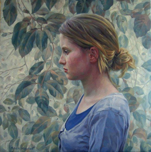 The Quiet Art of Listening - oil on linen canvas 50x51cm 2012