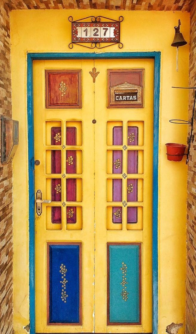 Sunny yellow doors, Bonito, Pernambuco, Brazil