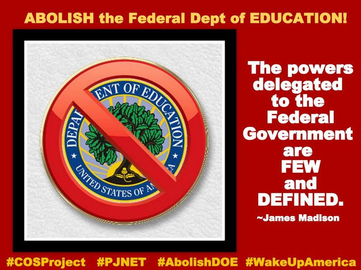 EDUCATION is NOT one of the Federal Government's enumerated powers!  #COSProject #PJNET  #AbolishDOE