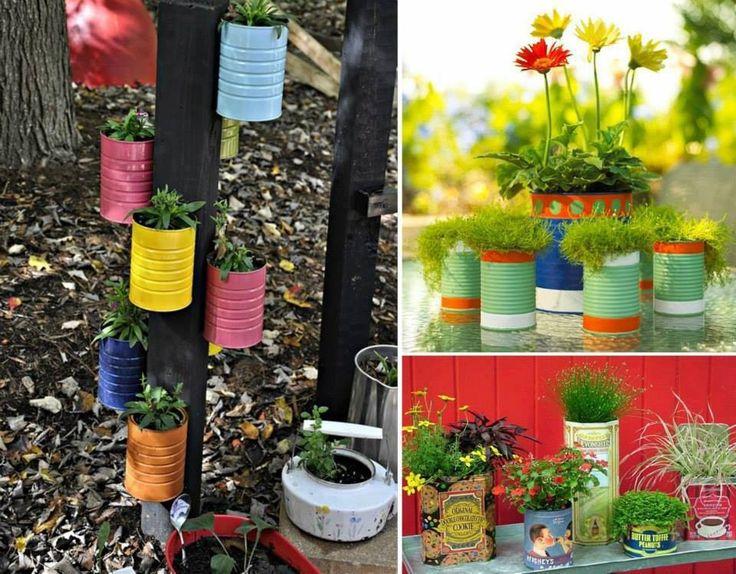 Macetas recicladas plants pinterest - Material de jardineria ...