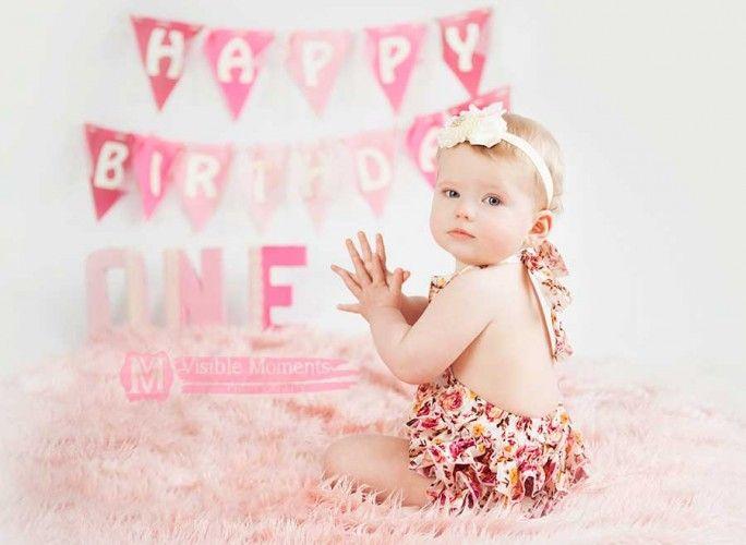 Baby girl first birthday photos idea