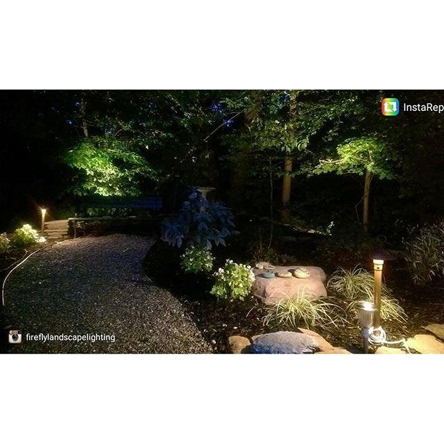 Dennis Martin 911 Memorial garden. @fireflylandscapelighting great job!!