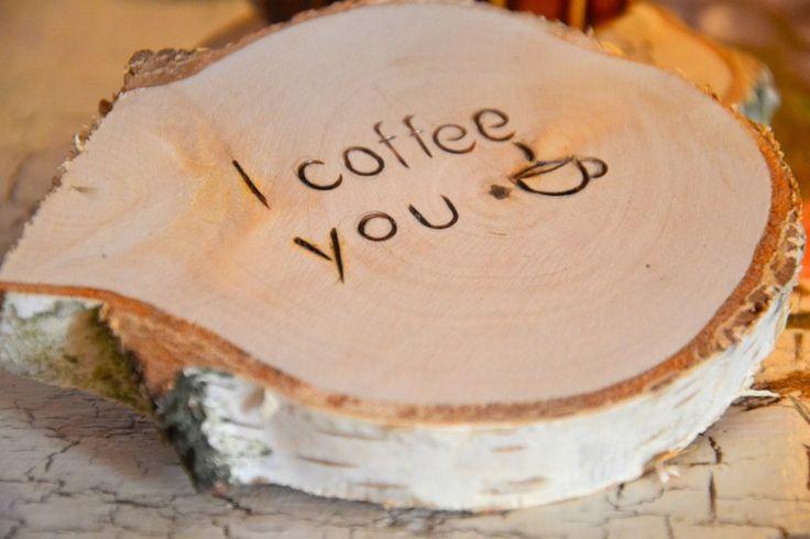 I coffee you, podkładka pod kubek, eko w KREDKA Pracownia artystyczna na DaWanda.com
