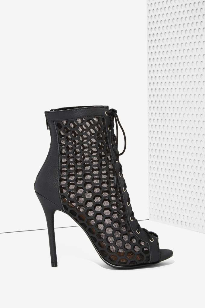 Nasty Gal Uh Huh Honeycomb Vegan Leather Bootie | Shop Shoes at Nasty Gal!