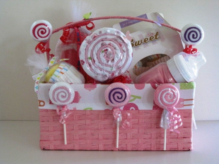 Oh So Sweet Baby Gift Basket. $70.00, via Etsy.