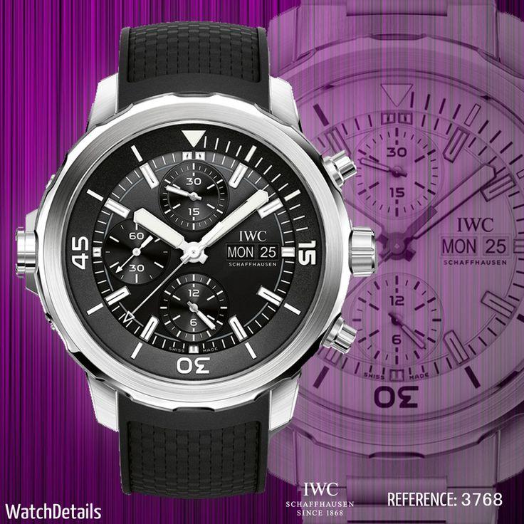 Read more Watches Aquatimer Chronograph Reference 3768 http://www.watchdetails.com/2015/01/watches-aquatimer-chronograph-reference.html
