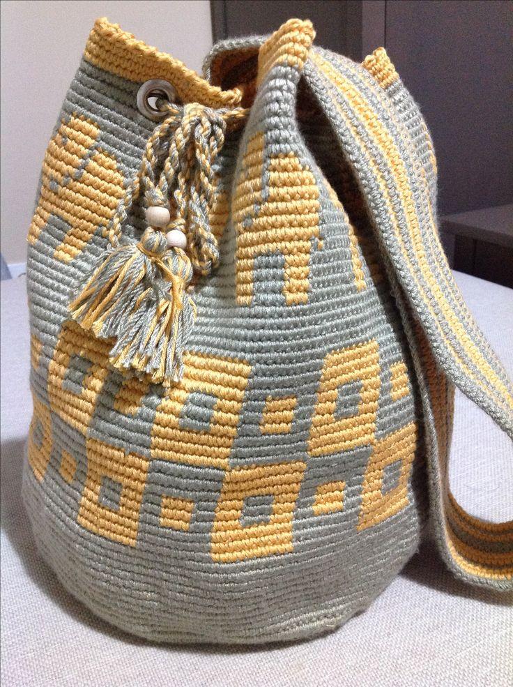 Tasche im wayuu stil, 25 x 28 cm