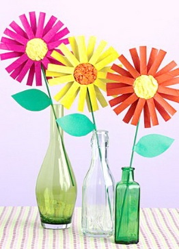 newspaper flowers recycled craft for kids 25 best ideas about construction paper flowers on 7847