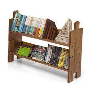 Dewey Bookbuilder - Set of Two (Teak Finish)