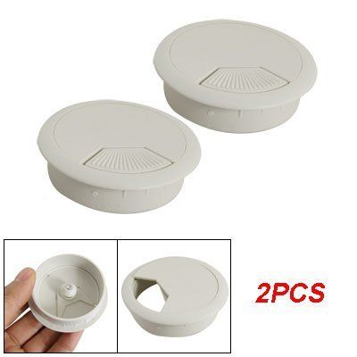 2 Pcs Round Plastic Desk Grommets Cable Wire Hole Cap Cover By Uxcell.  $3.84.