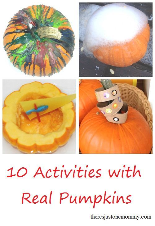 10 super fun activities for the kids using real pumpkins