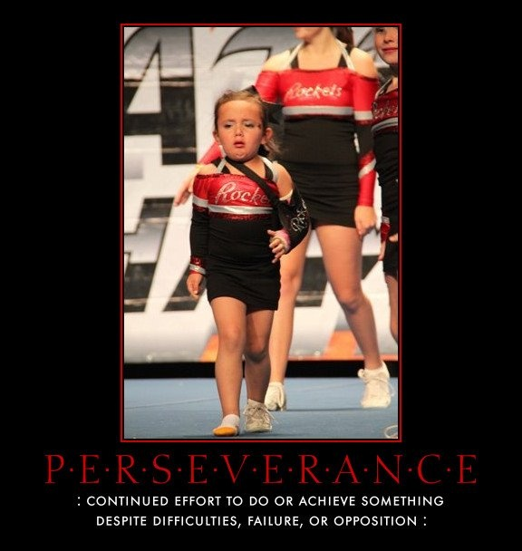 Inspirational! Little thing still goes out and competes with a broken arm and lost a shoe!