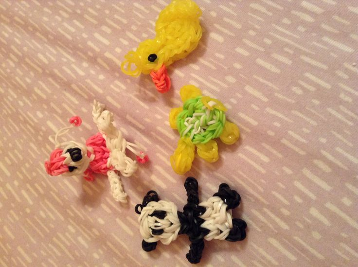 how to make rainbow loom animals with your fingers