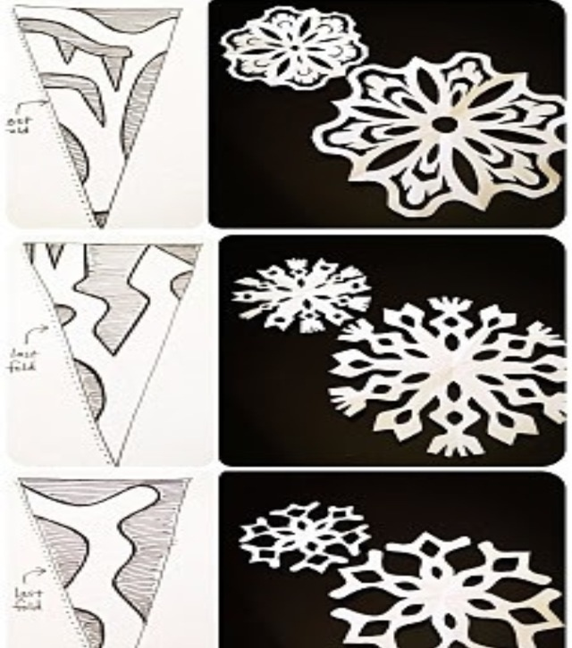 24 best snowflakes templates images on pinterest paper for How to make a real paper snowflake