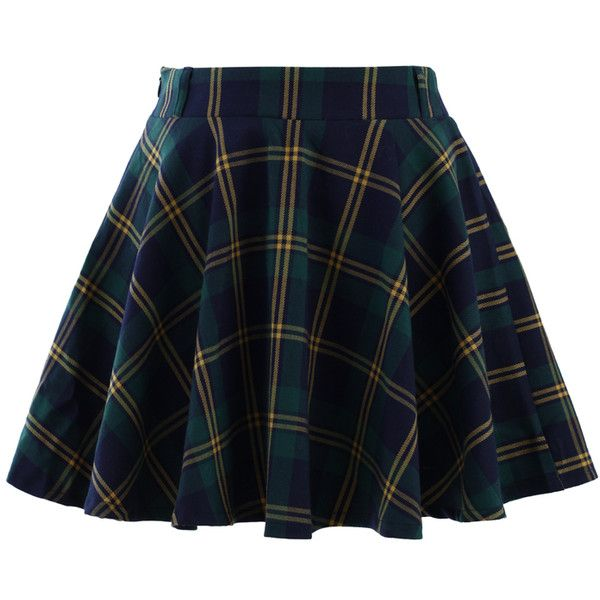 Chicwish Green Plaid Check Skater Skirt and other apparel, accessories and trends. Browse and shop 53 related looks.