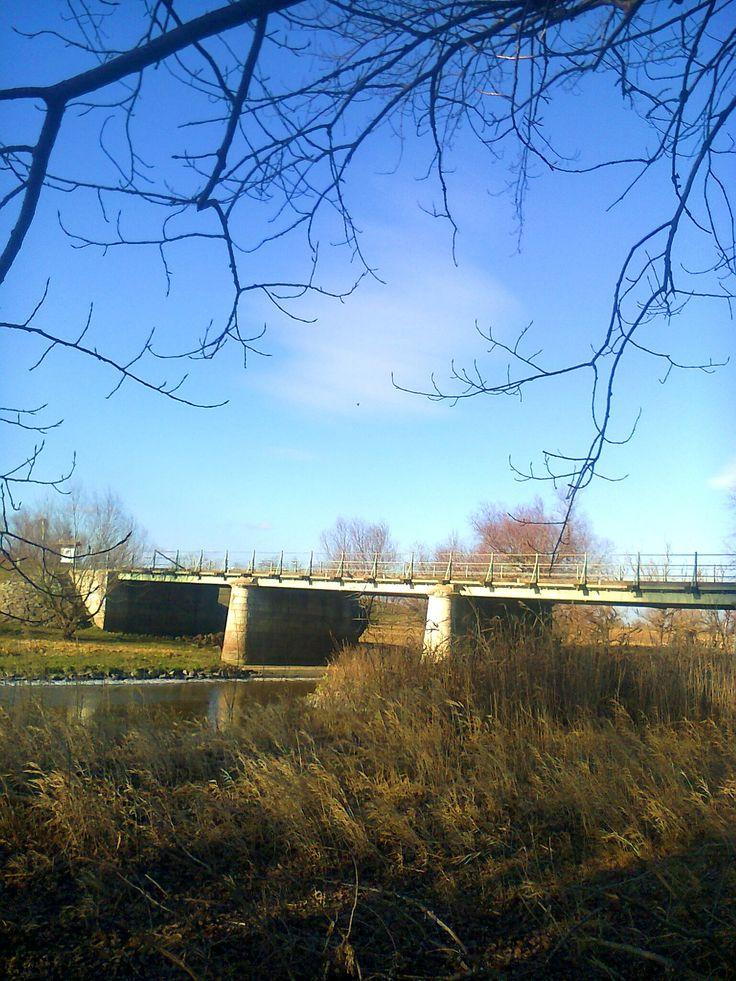 Hortobágy folyón átívelő Ágotai-híd, Püspökladány.