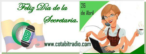 Feliz día de la Secretaria https://twitter.com/cotabitradio