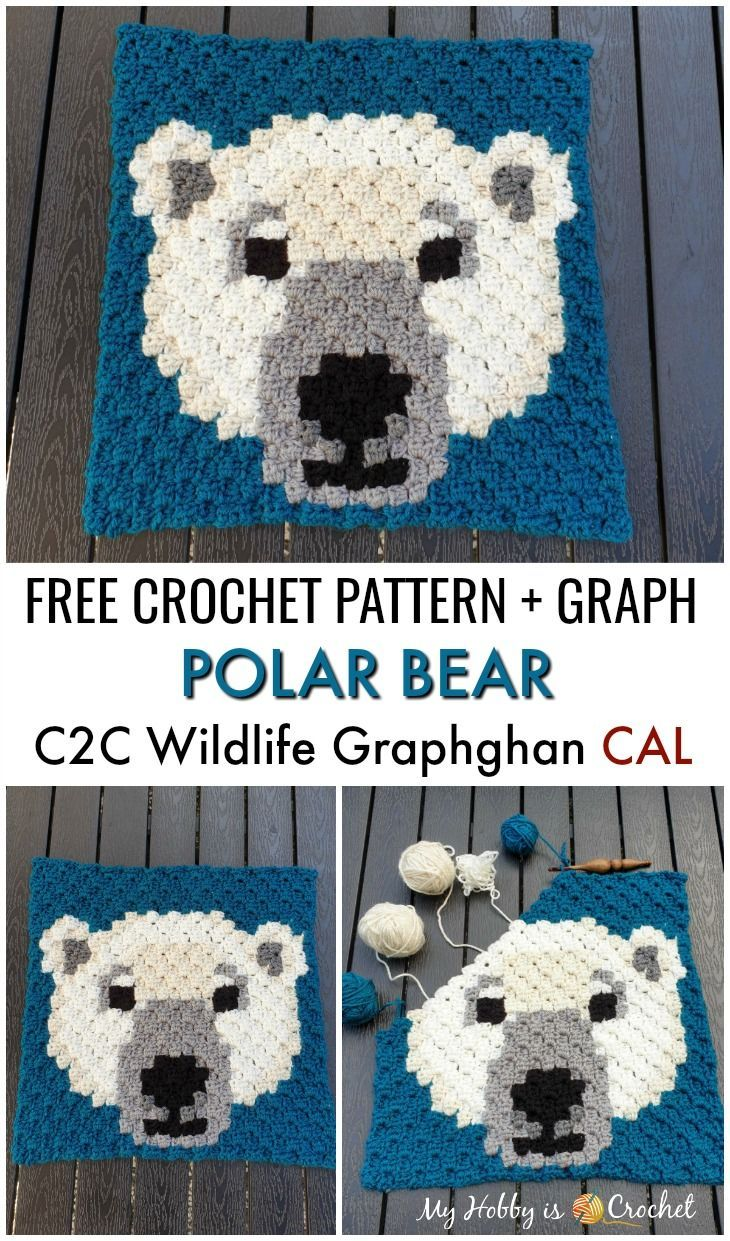 Polar Bear C2C Square – Free Crochet Pattern + Graph