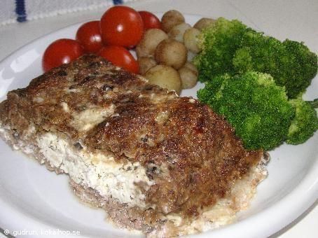 Recept - Köttfärslimpa med Philadelphiaost