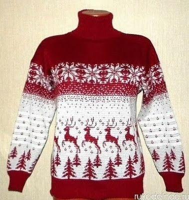 """Knitting: noruegos adornos """"Venado"""""""