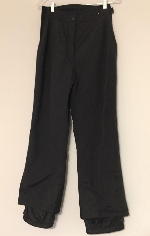 ebb50c0d2f Obermeyer Ski Snow Board Pants Ladies Size 8 Short Black Lined EUC   Obermeyer