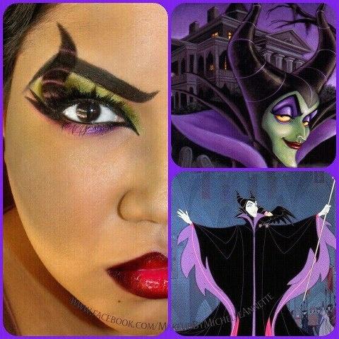 Disney Villian Malificent (or however you spell it) Makeup look
