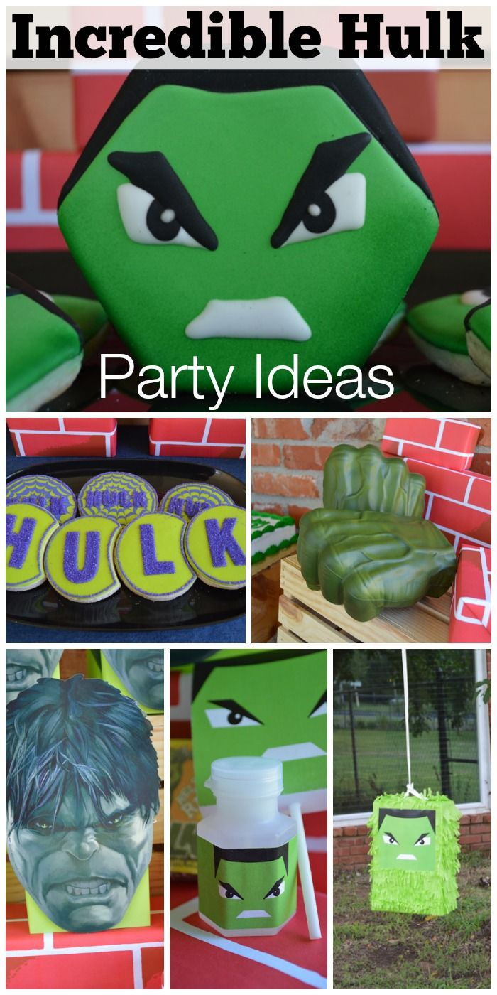 Incredible Hulk party with amazing desserts and decorations! See more party ideas at CatchMyParty.com.